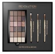 Набор для макияжа MakeUp Revolution HD Pro Eyes & Brows: фото