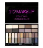 Палетка теней I Heart Makeup Theme Palette Makeup Revolution You are Gorgeous: фото
