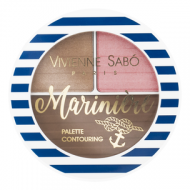Палетка для скульптурирования лица Vivienne Sabo / Face contouring palette/ Palette contouring pour le visage Mariniere тон/shade 01: фото