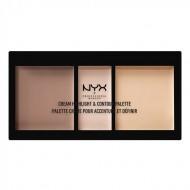 ПАЛЕТКА ДЛЯ скульптурирования NYX Professional Makeup CREAM HIGHLIGHT AND CONTOUR PALETTE - LIGHT 01: фото