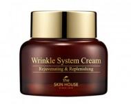 Антивозрастной питательный крем с коллагеном THE SKIN HOUSE Wrinkle system cream 50г: фото