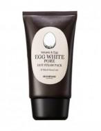 Маска очищающая на основе яичного белка SKINFOOD Egg White Pore Hot Steam Pack: фото