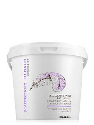 Обесцвечивающий порошок супра фиолетовая ELGON DE-COLOR BLUEBERRY BLEACH, 500 гр: фото