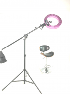 Кольцевая лампа Stellar LED Diva Ring light + Boom Stand (Silver): фото