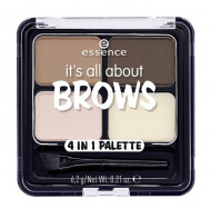 Тени для бровей ЕSSENCE Its All About Brows 4in1: фото
