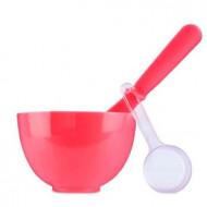 Набор для нанесения альгинатных масок Anskin Beauty Set Red (Rubber Ball Small/Spatula middle/Measuring Cup) 3шт: фото