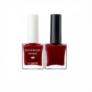 Набор лак для ногтей + тинт для губ и румяна THE SAEM Kiss&Blush Lacquer & Kissholic Nails RD02 9,5г+9.5г: фото