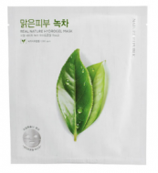 Маска для лица гидрогелевая NATURE REPUBLIC REAL NATURE GREEN TEE HYDROGEL MASK 22г: фото