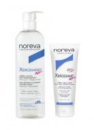 Набор для очень сухой кожи NOREVA XERODIANE AP+: Очищающий пенящийся крем 500мл + Крем-эмольянт 200мл: фото