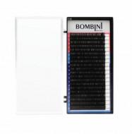 Ресницы Bombini Черные, 20 линий, изгиб С – MIX 9-12 0.05: фото