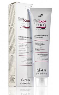 Крем-краситель полуперманентный безаммиачный Kaaral Baco Soft Color .01 натуральный пепельный 60 мл: фото