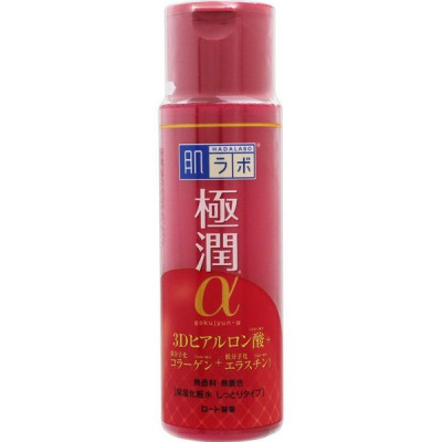 Лосьон антивозрастной HADALABO Gokujyun Alpha Moist Lift Lotion 170 мл: фото